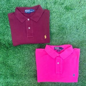 Polo Ralph Lauren Polo Shirt Lot of 2 Size Large